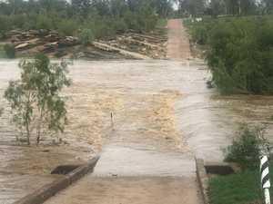 Residents cut off as wet weather floods bridge