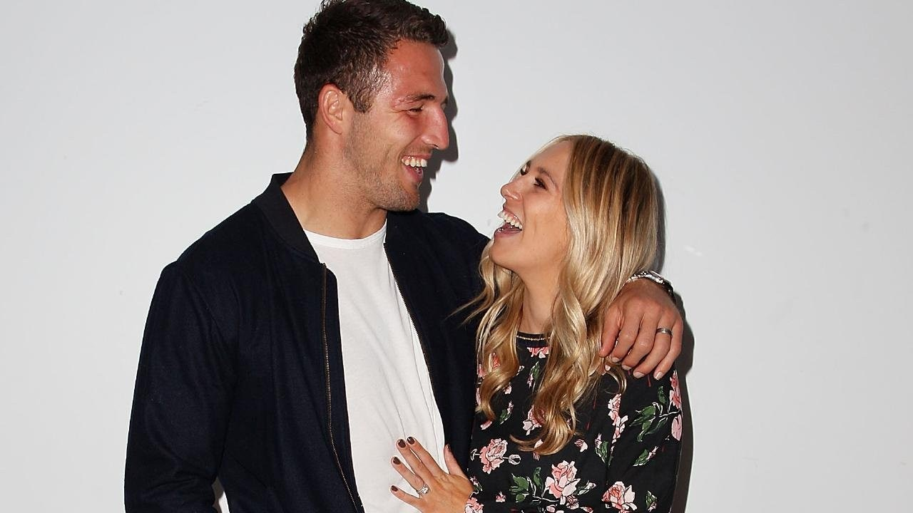 Happier days … Sam and Phoebe Burgess.