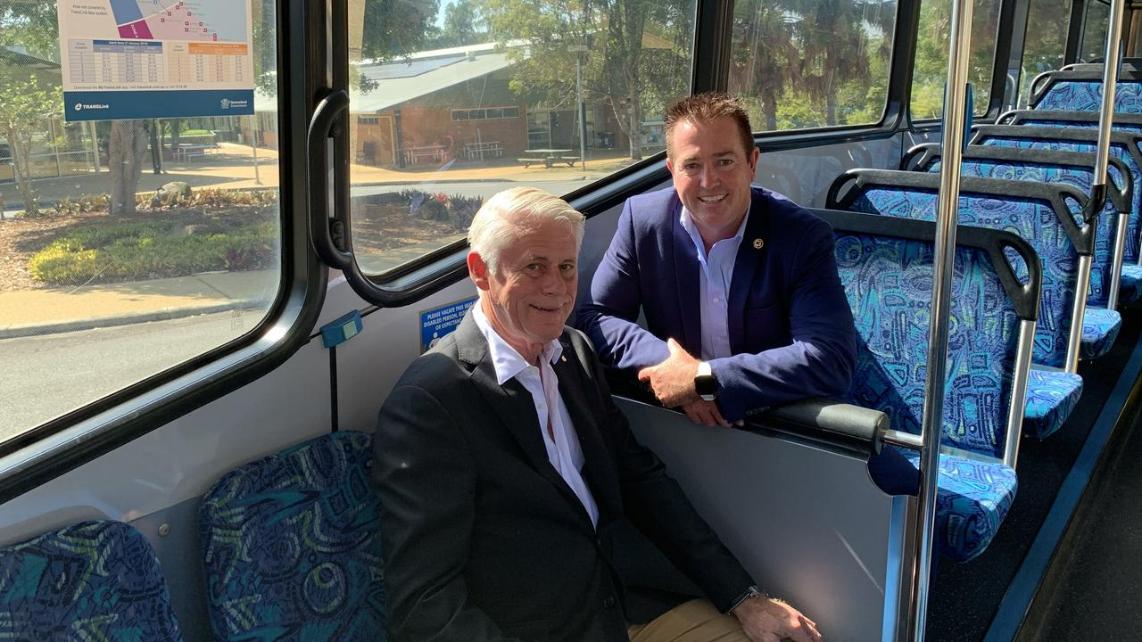 Tweed MP Geoff Provest and Minister for Regional Transport and Roads Paul Toole. (taken before COVID-19 restrictions)