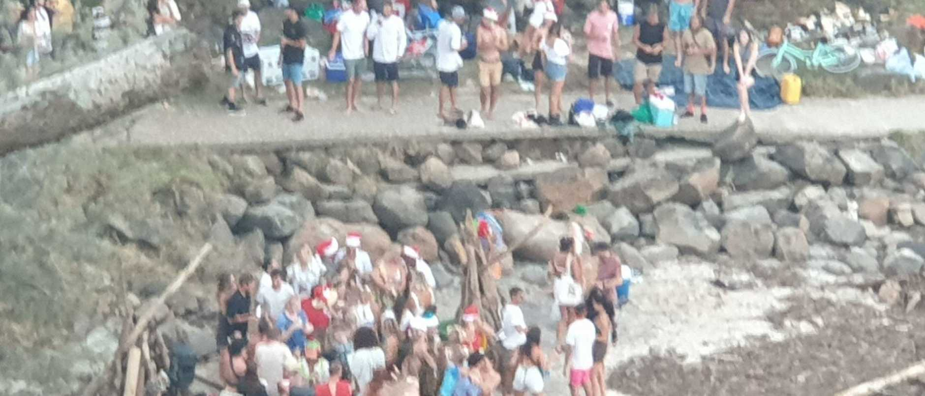 Images of people at Froggies Beach on Christmas Day. Picture: Jim Jackson.
