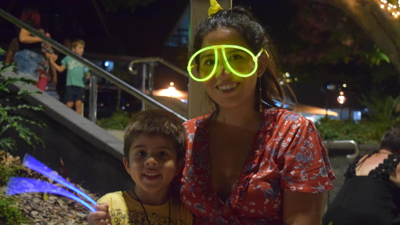 Sebastiano Dixon, 5, and Diana Dixon watched the fireworks at Airlie Beach foreshore last year. Picture: Laura Thomas