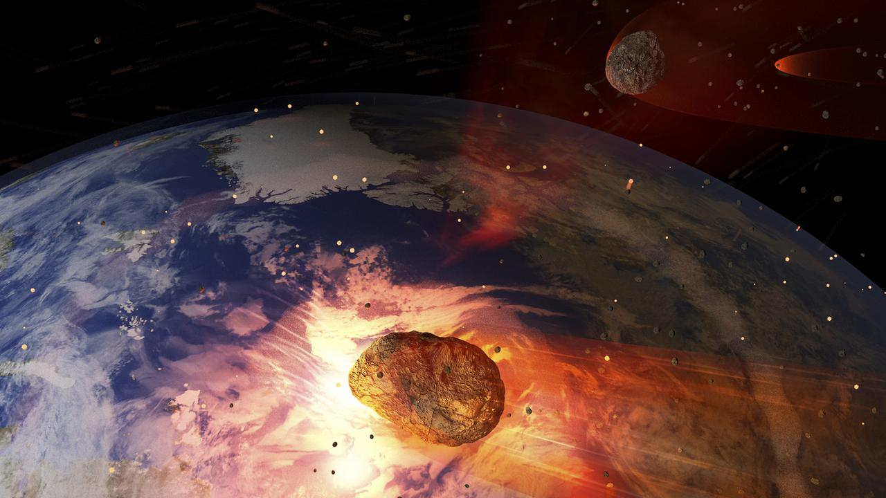 According to the revered 16th century seer, we're in for a year of asteroid collisions, famines and maybe even a zombie or two. Fun. Picture: NASA.
