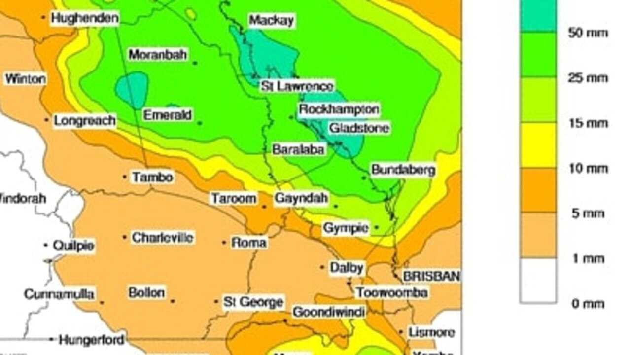 The Bureau of Meterology's rainfall forecast for Wednesday, December 30, 2020. ​Picture: BOM