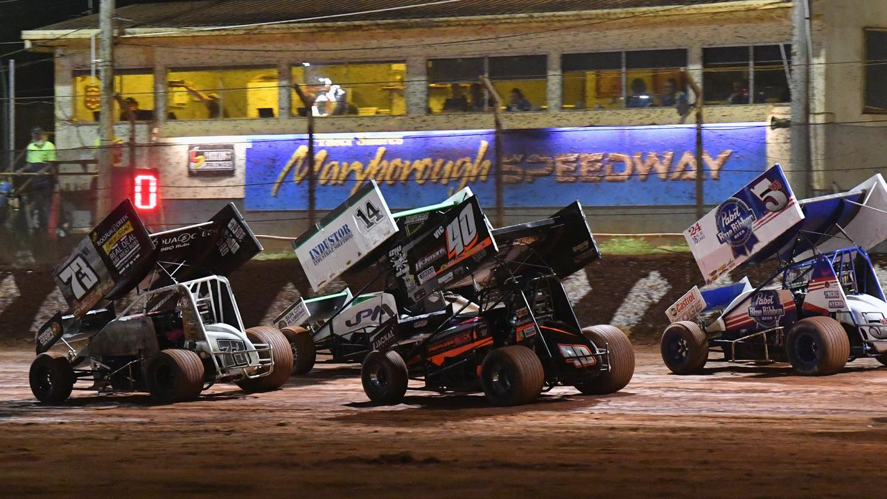 Maryborough Speedway World Series Sprintcars at a previous event. Picture: Alistair Brightman