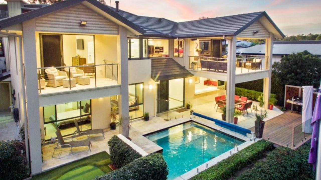 21 Verbena Crescent at Brookwater was one of eight million-dollar properties to sell over the past twelve months.