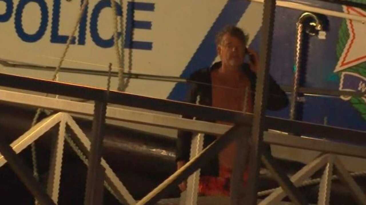 Yachtsman David Simpson was rescued from a marine beacon. Picture: 9 News