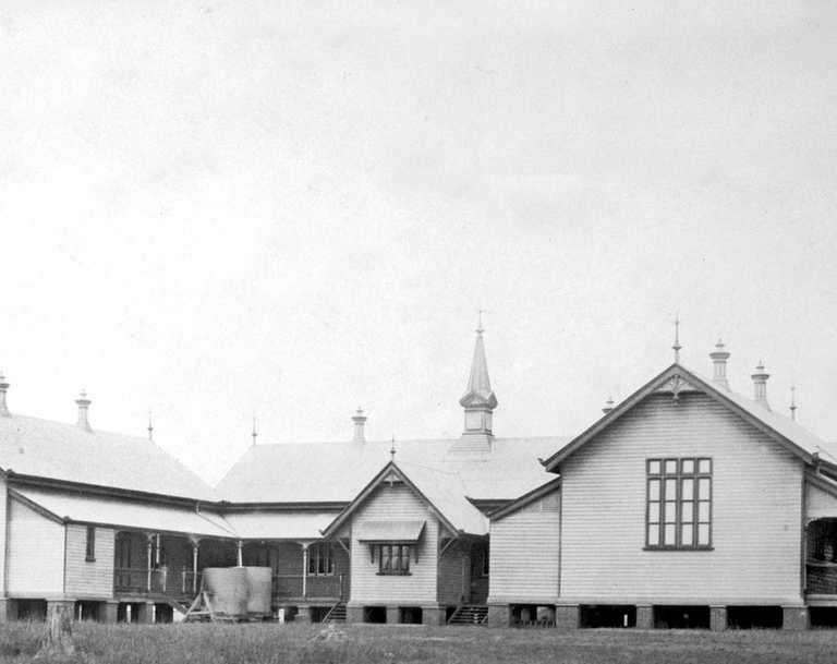 Girls Central State School, Bundaberg, c 1890. Photo: Queensland State Archives
