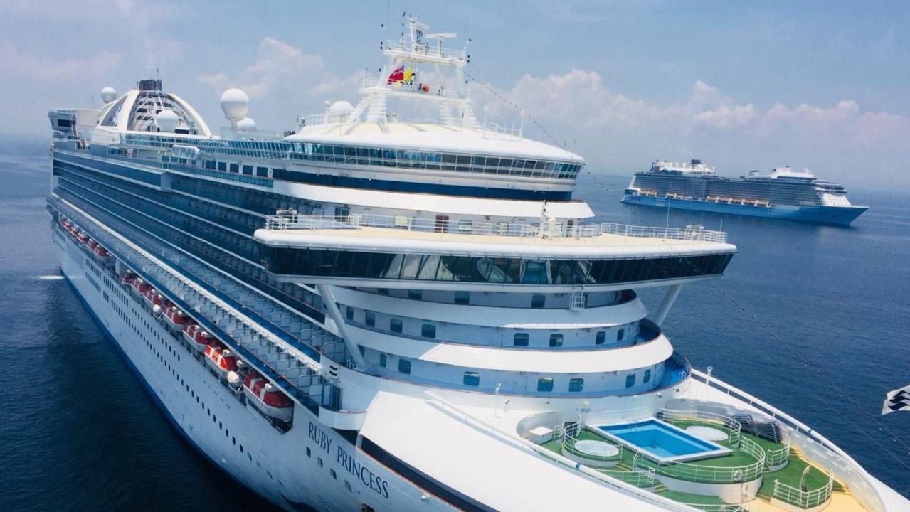 The Ruby Princess cruise ship embroiled in the coronavirus outbreak in March 2020.