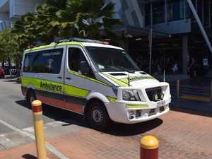 Woman rushed to hospital after single-car crash