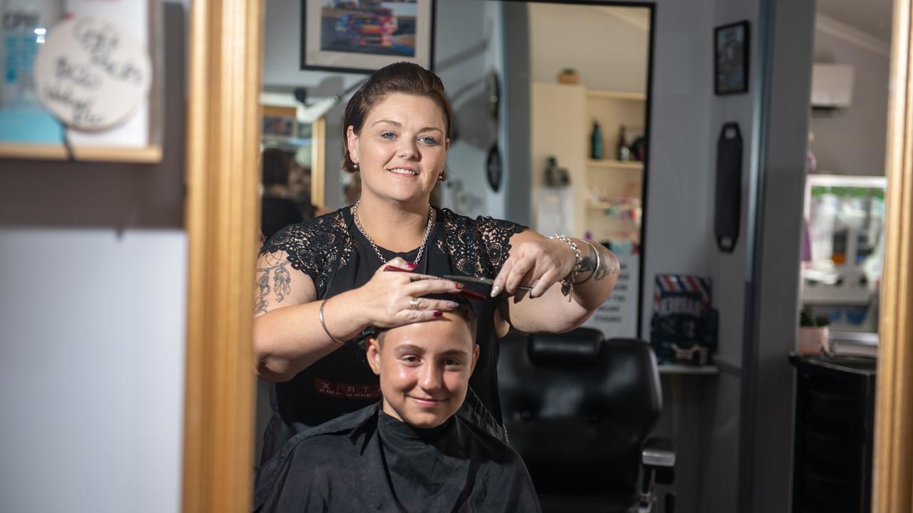 Fine Lines hairdresser and owner Adina Jane McCarthy. Photo: Ali Kuchel