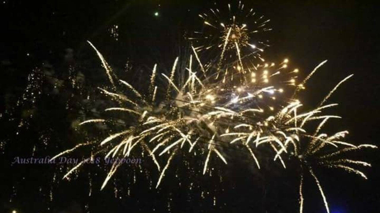 Rebecca Parry captured this image of the Yeppoon fireworks.
