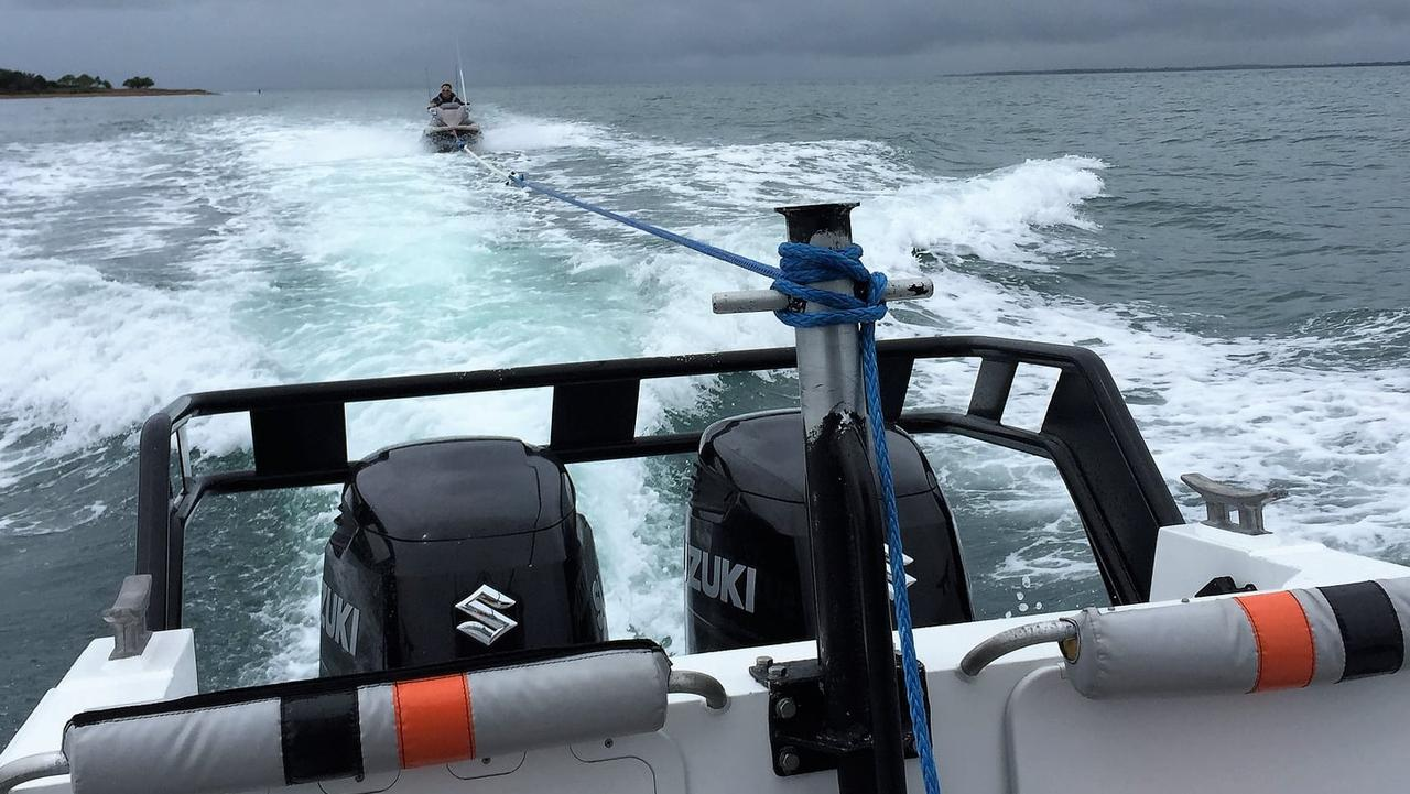 A Volunteer Marine Rescue Mackay crew came to the aid of a jetski owner who found himself stuck near Flat Top Island after complete electrical failure. Picture: VMR Mackay