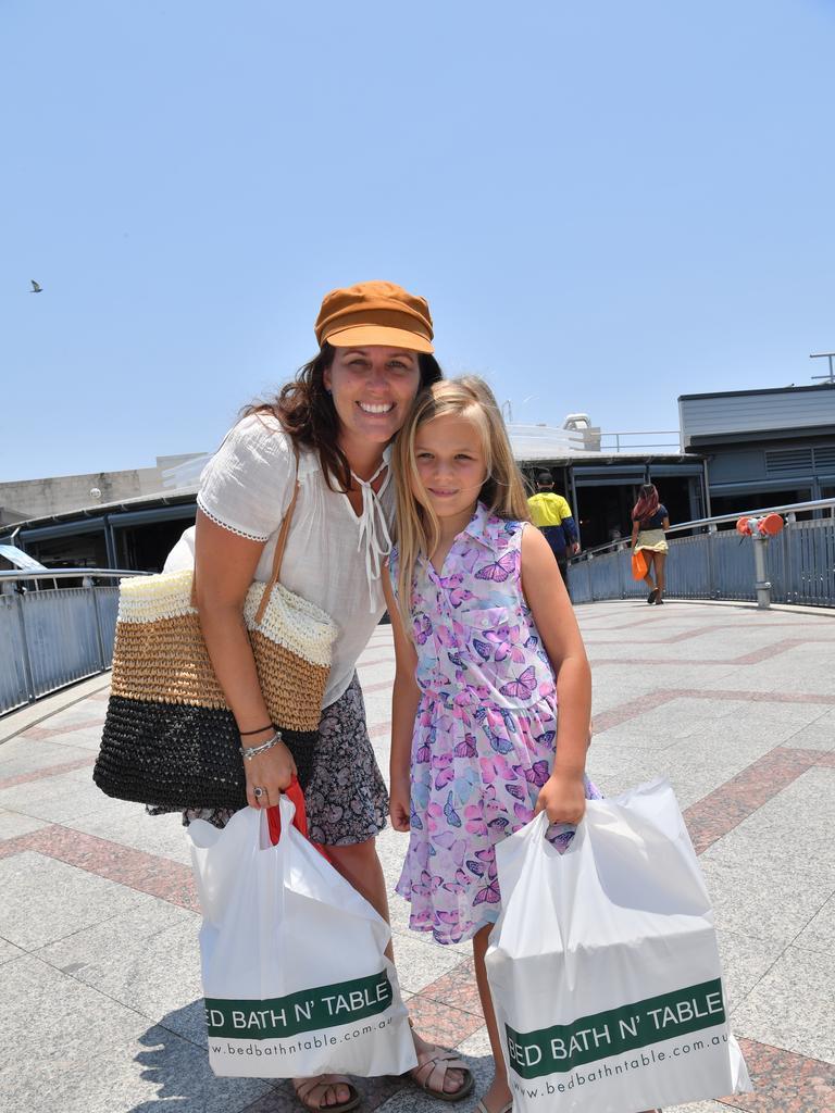 Leila and Francesca Jansen know how to score a bargain. Picture: John McCutcheon