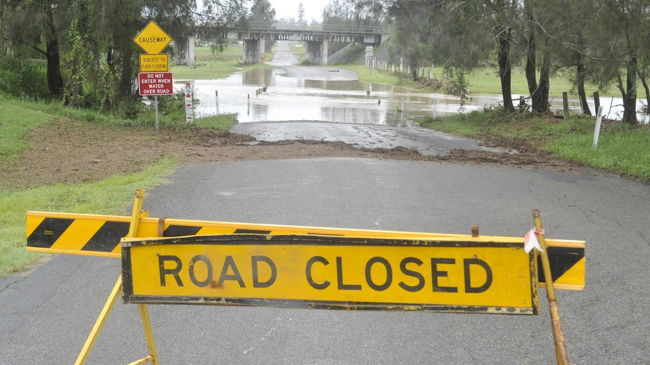Mackay Regional Council has issued flood warnings for seven roads, with more expected to close as the rains continue.