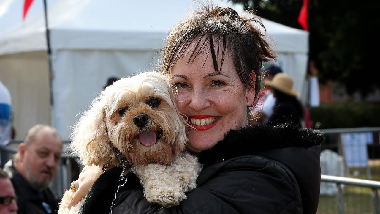 Deborah Stellason with her dog Annabel. Gladstone Regional Council will restart the Animal Inspection Program from February 1, 2021.