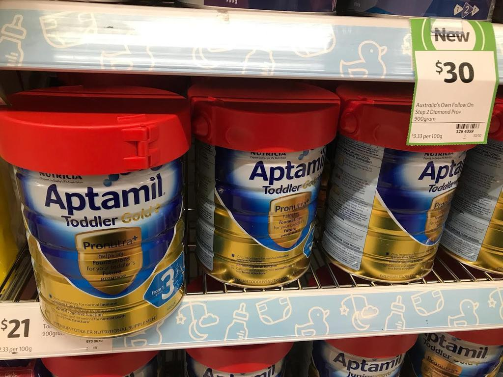 Baby formula is still top of the shop lifters list. Picture: Supplied.