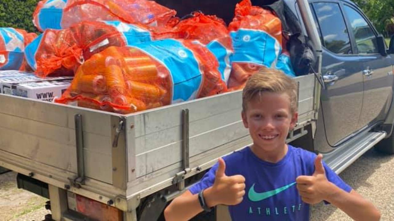Coops Hunsberger has collected nearly 20,000 cans and bottles. Picture: Supplied.