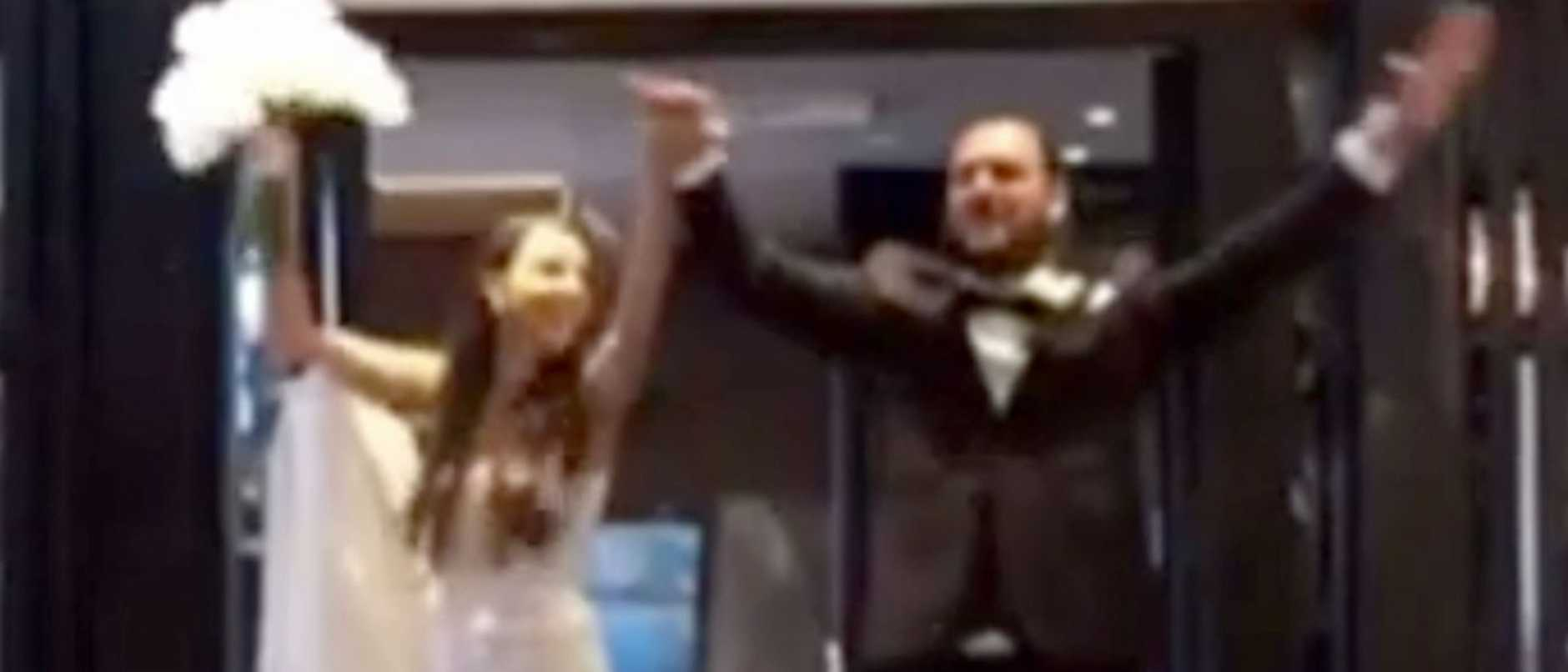 A bride and her family have been fined for breaking strict stay at home orders to hold a wedding in Sydney's CBD as images surfaced of the newlyweds celebrating their big day., Diana Falasca is among 19 people who have been fined for breaching coronavirus restrictions by leaving the northern beaches and venturing to Pyrmont venue, Doltone House. The groom did not break any public health orders.