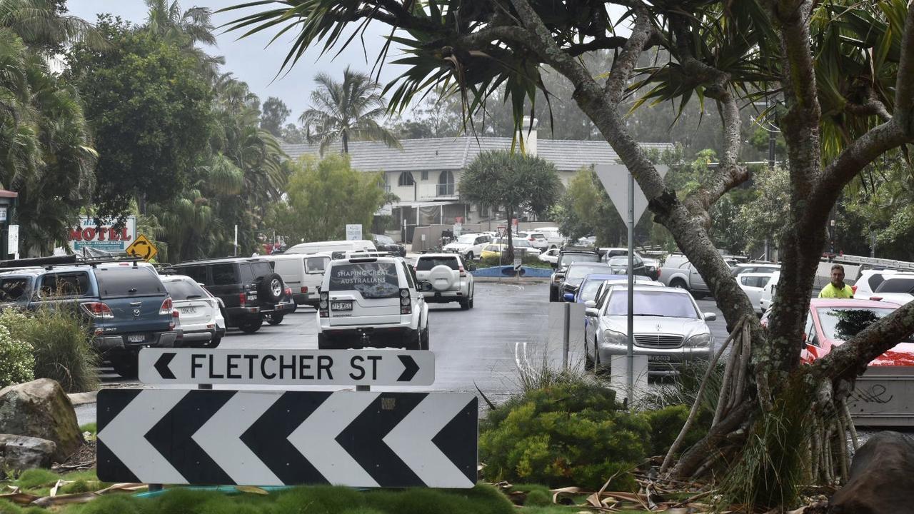 Heavy traffic in Byron Bay.