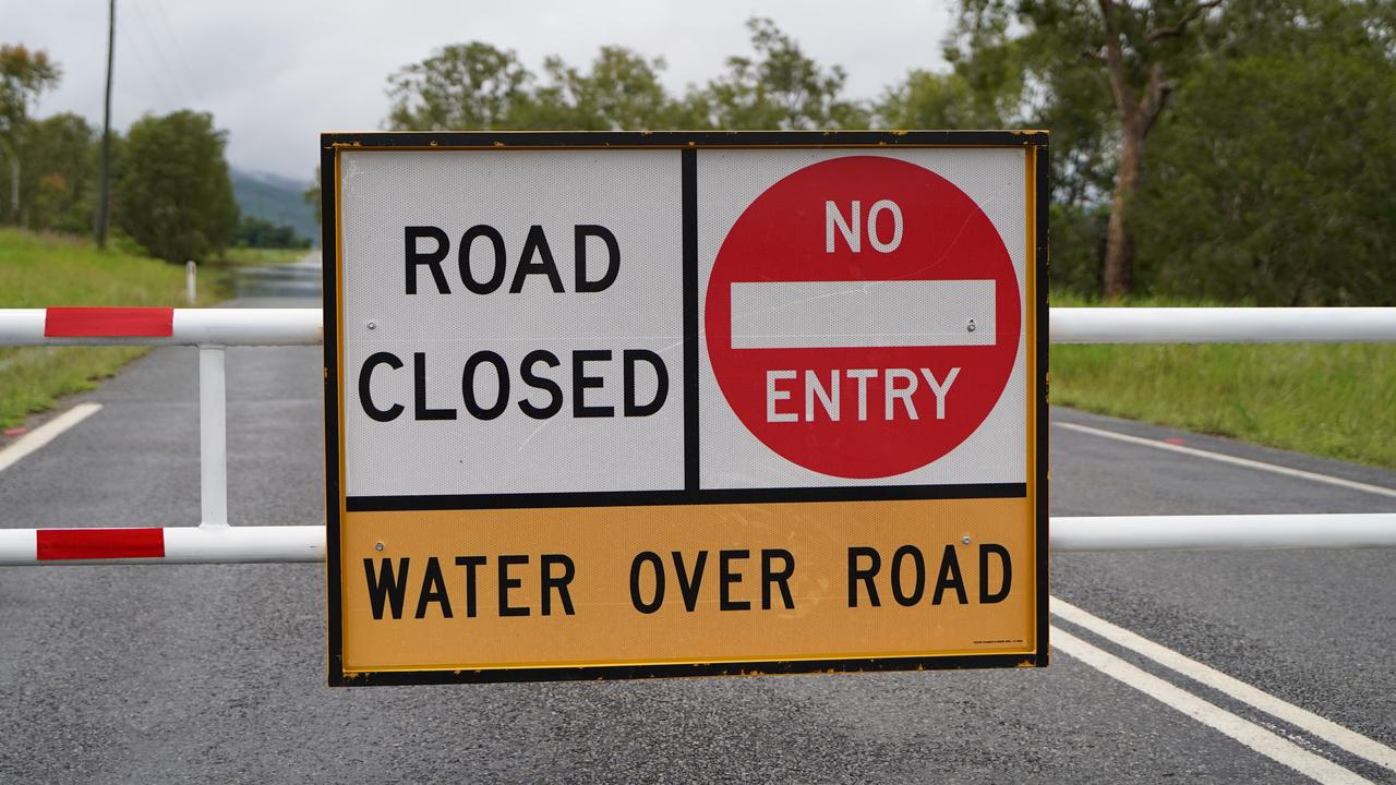 Flooding over Marian-Eton Rd, Sandy Creek on Wednesday December 30. Picture: Heidi Petith generic flooding road closed Mackay