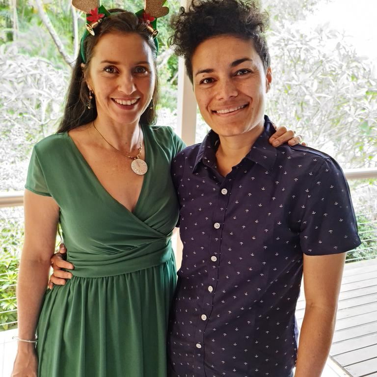Popular Coast musician Andrea Kirwin enjoys a laid back Christmas with her partner Claire Evelynn.