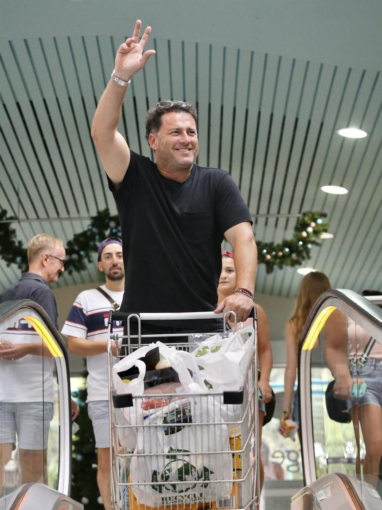 Karl Stefanovic is greeted by fans while shopping in Noosa.