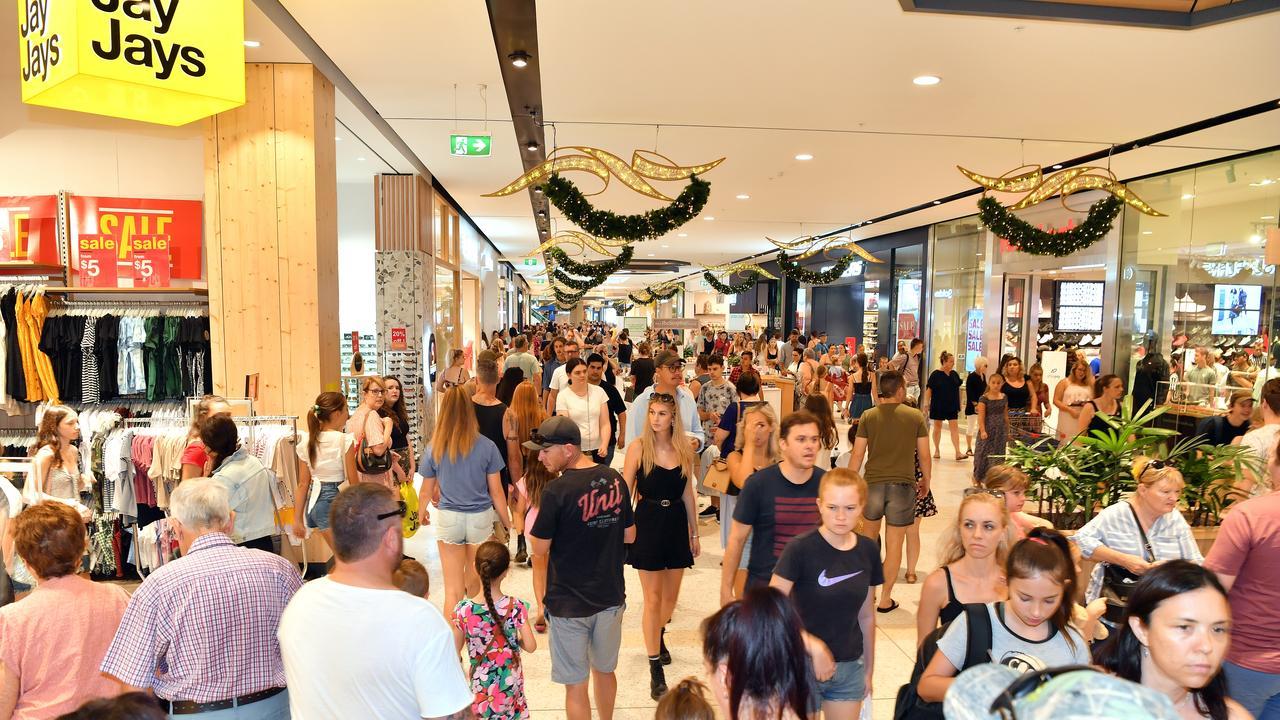 Shoppers at Sunshine Plaza. Pictures: John McCutcheon