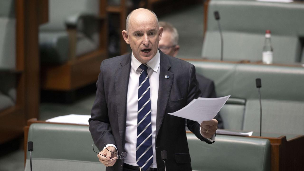Government Services Minister Stuart Robert says welfare fraud was an insult to those who need help from the payments. Picture: NCA NewsWire/Gary Ramage