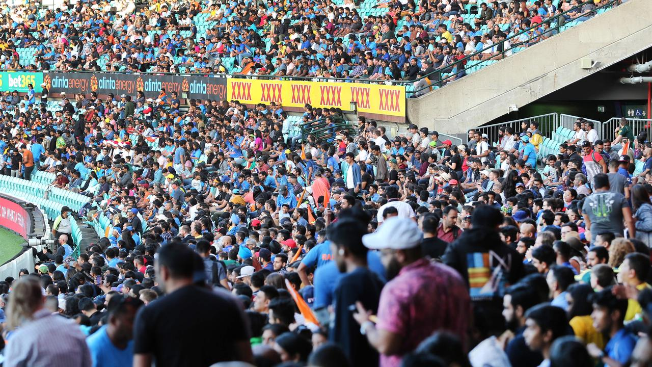 Up to 24,000 fans are set to be allowed into the SCG from January 7 for cricket's third Test match. Picture: Richard Dobson