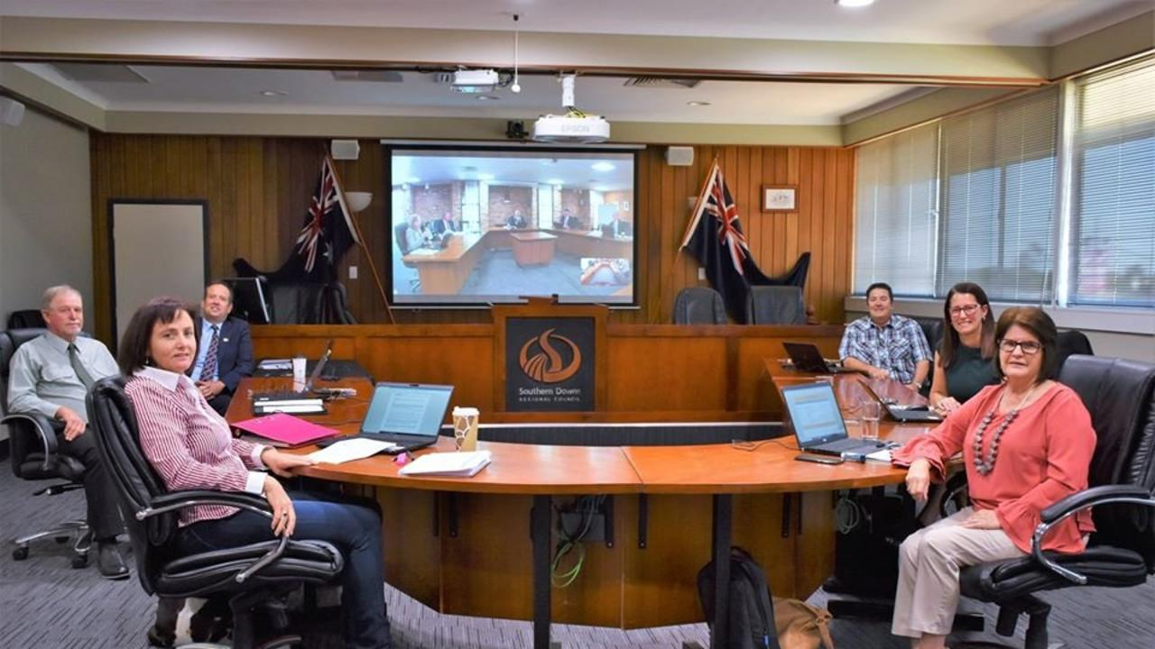 First meeting of Southern Downs Regional Council with Vic Pennisi as Mayor on April 29.