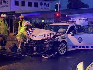 Coast police officers rushed to hospital after 2-car crash