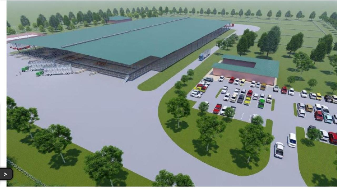 Wiley's masterplan for Warwick Saleyards upgrades.