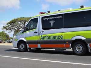 Man taken to hospital after van rollover