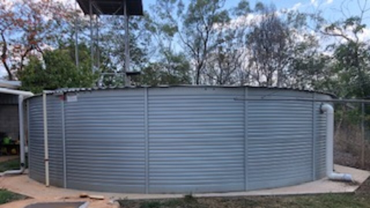 A car crashed into a water tank in Moranbah. Picture: File