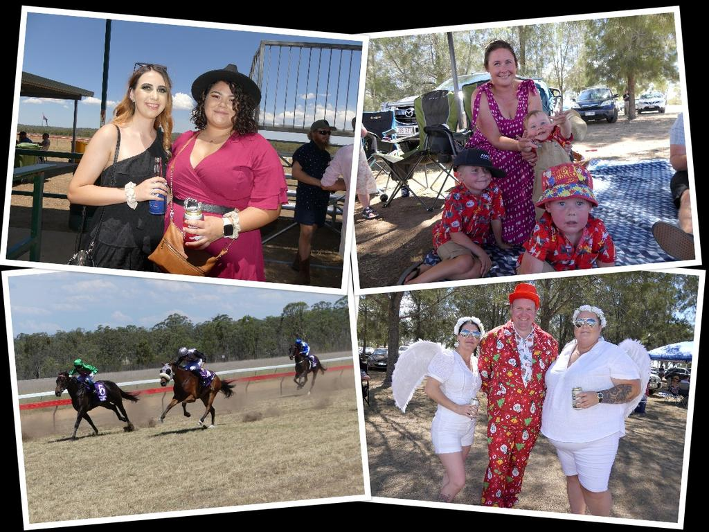 It looked a lot like Christmas at the Nanango races in December. Photo/Holly Cormack.