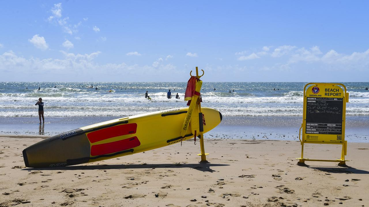 Beachgoers are reminded to always swim between the red and yellow flags.