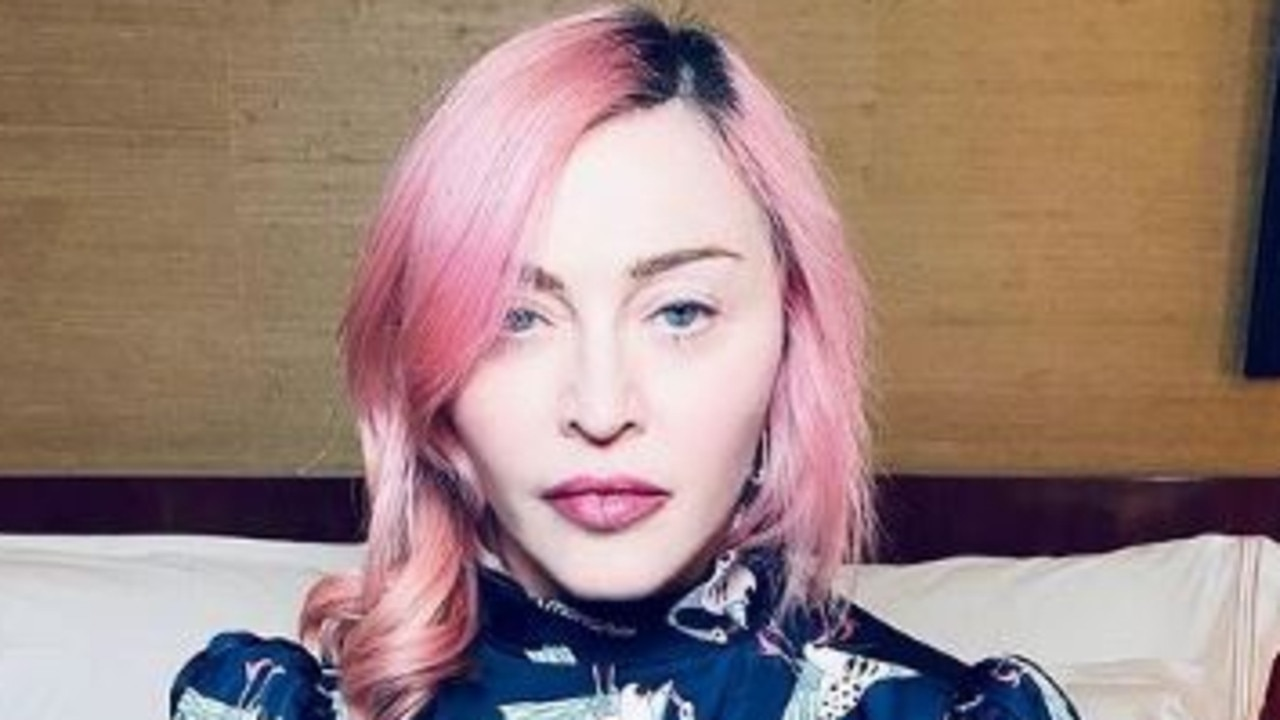 Madonna joined the pink hair brigade in 2020. Picture: Instagram