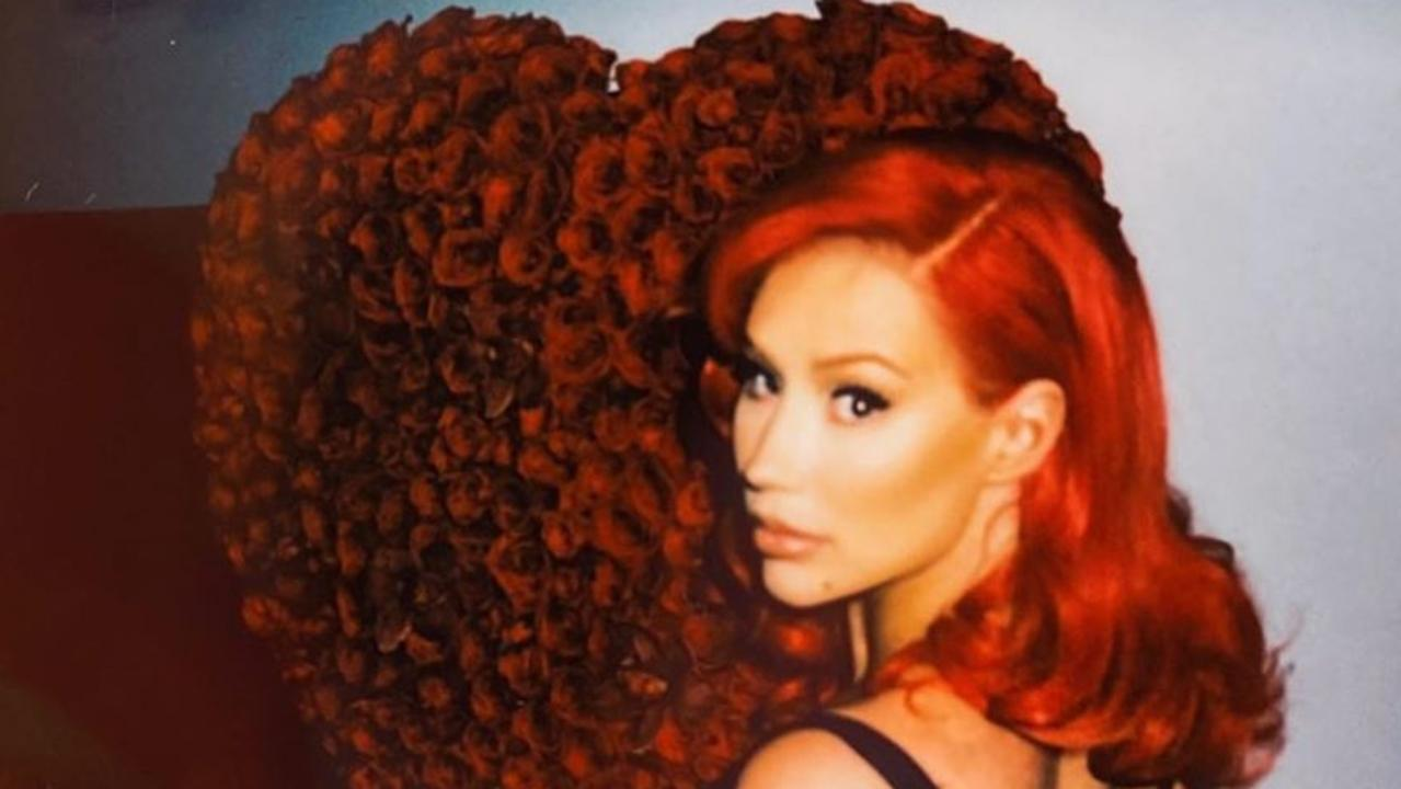 Iggy Azalea made fans think she'd shaved off her hair before revealing it was just a wig. Picture: Instagram