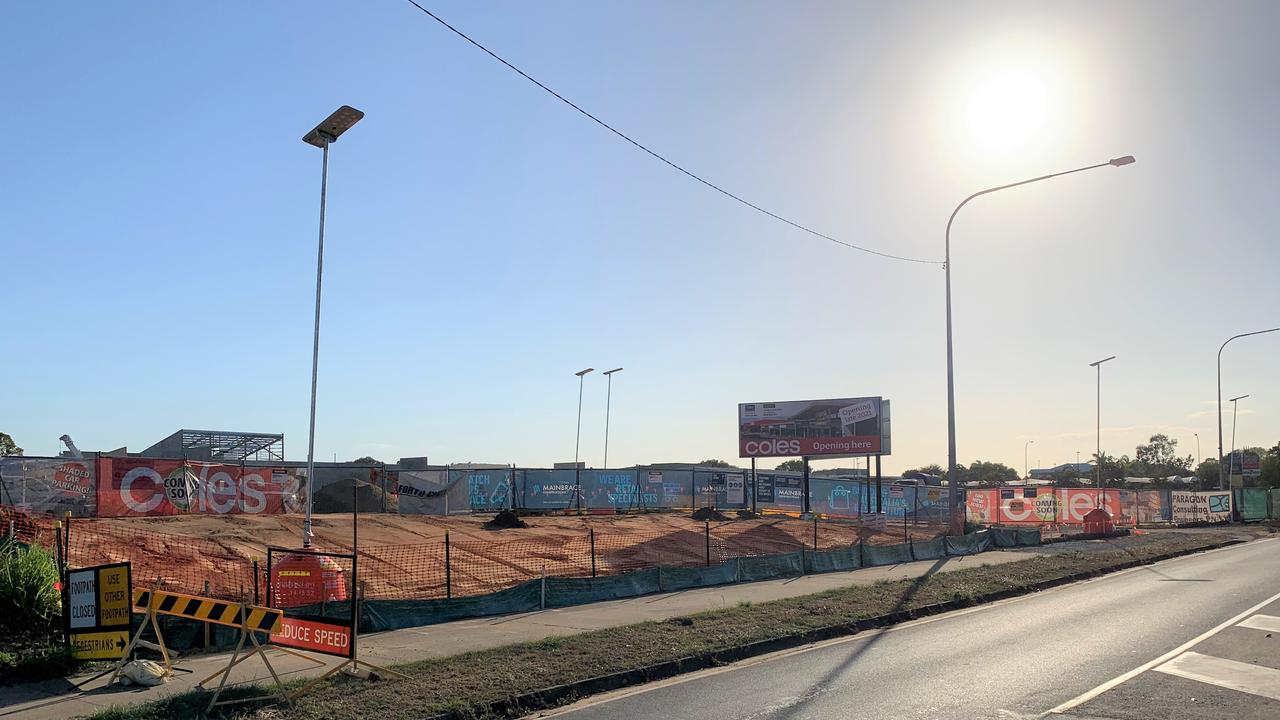 The progress on the new Coles being built along Oak St at Andergrove, November 5, 2020. Picture: Heidi Petith