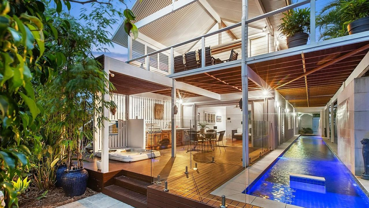A 22m lap pool is a great feature of this Casuarina home.