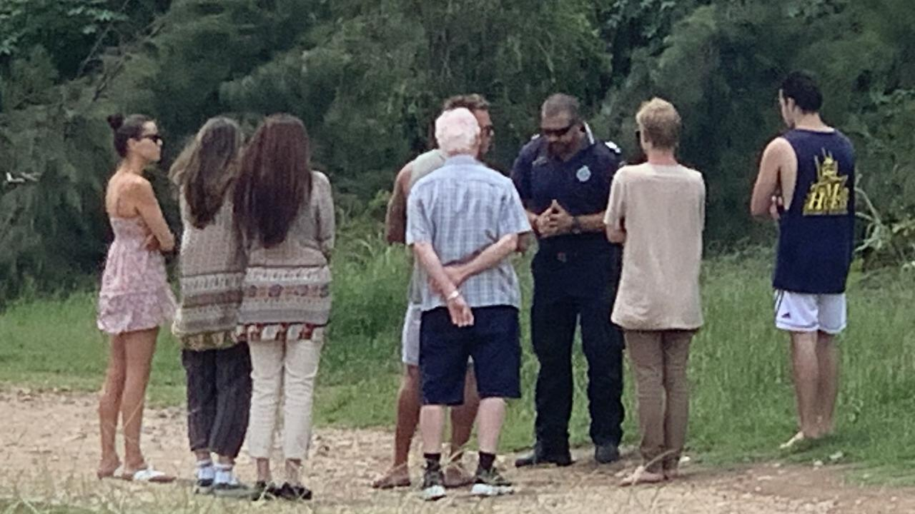Family and friends were at the scene during the search and were left heartbroken when the man's body was found.