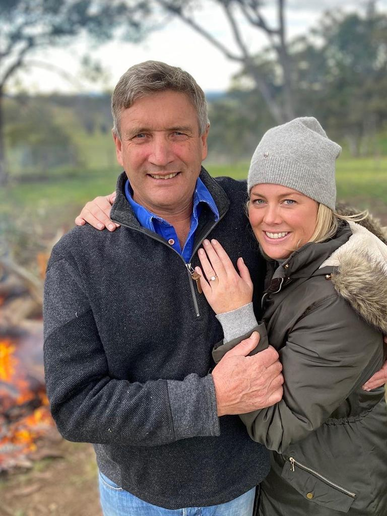 Sam Armytage announced her engagement to Richard Lavender (above) in June.