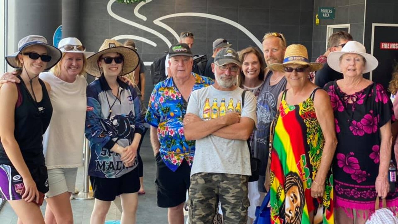 A family holidaying in the Whitsundays was left with a sour taste in their mouth after receiving a parking fine. Pictured is Taylah, Josie, Jordyn Ray, Stewart, Sam, Matt, Coby and Kath. Picture: Supplied