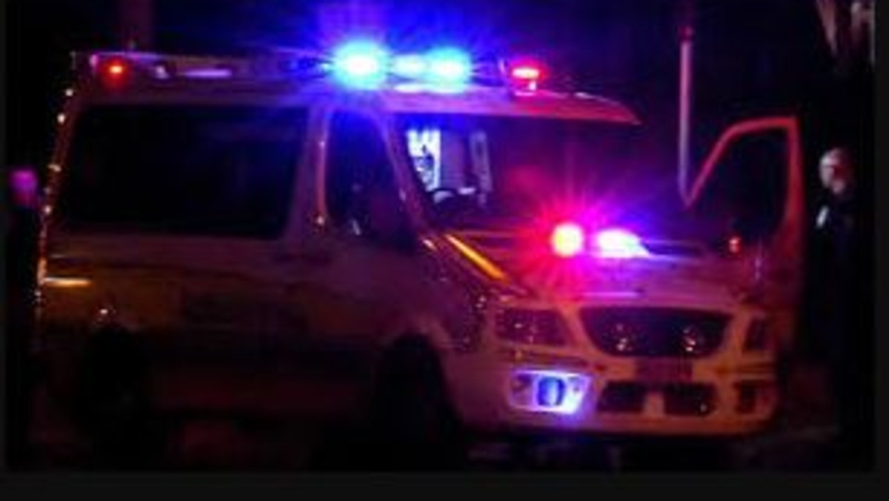 A man has been taken to hospital in a critical condition following a crash into a pole.