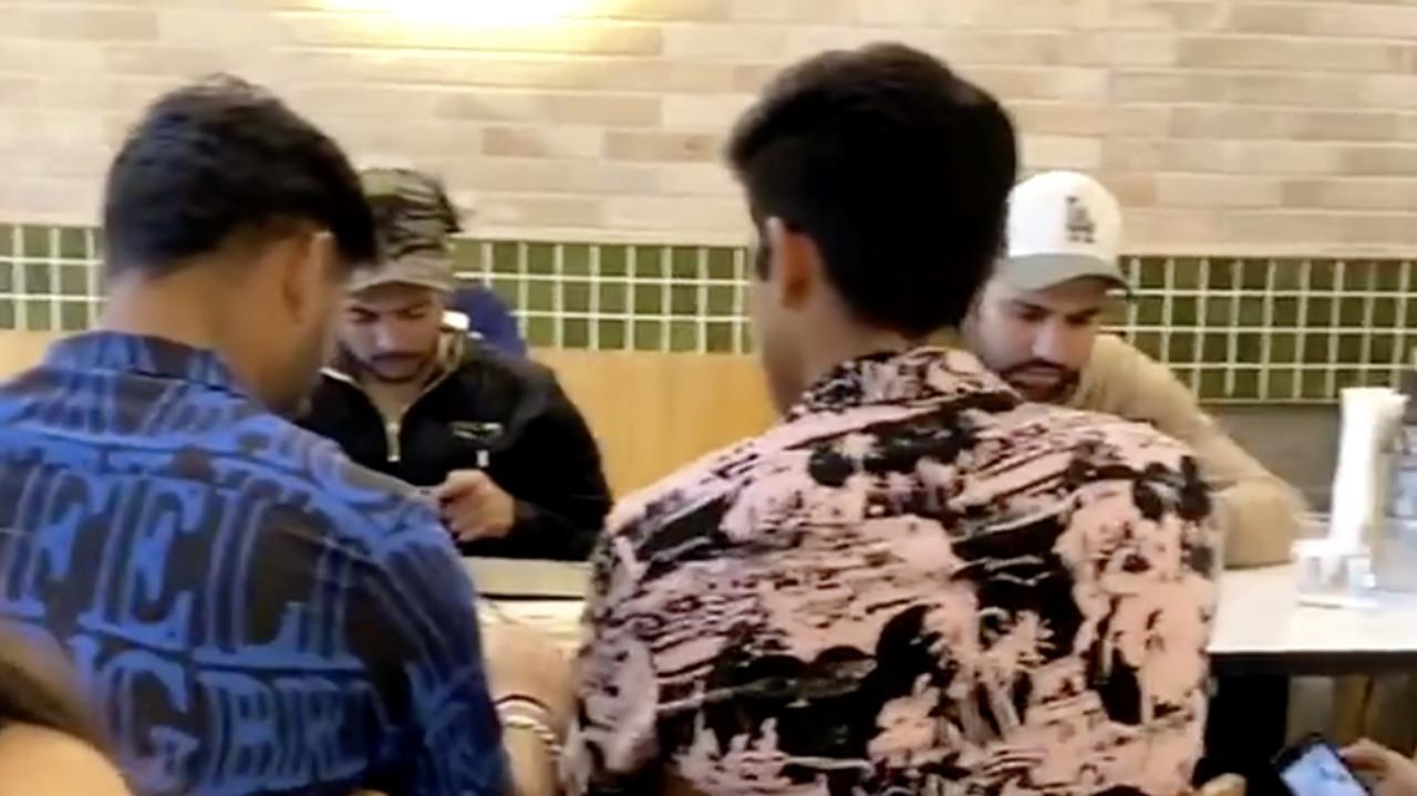 Rohit Sharma, Rishabh Pant, Shubman Gill and Navdeep Saini.