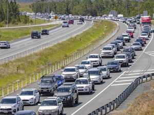 Familiar sight: Hwy turned carpark near Coast