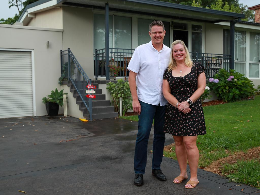 David and Rachel Anderson sold their Ryde home for $100,000 more than they expected. Picture:Justin Lloyd