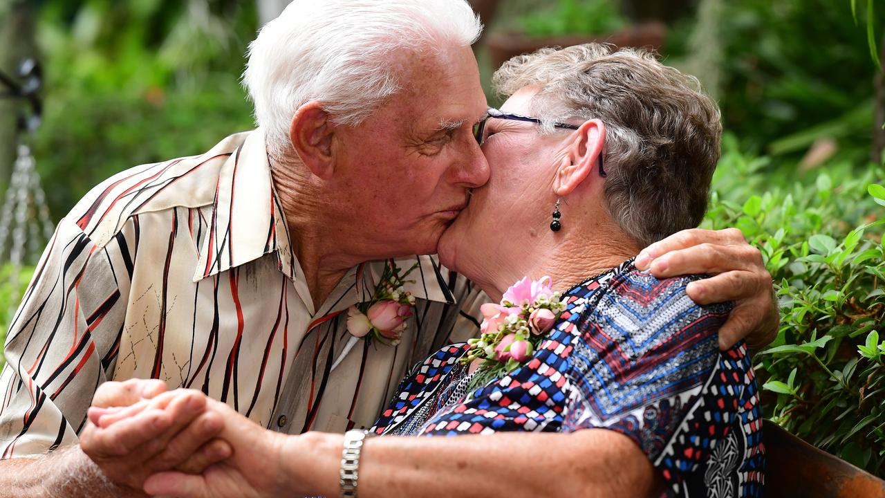 Col and Eva Linderberg celebrate sixty years of marriage. Picture: Mike Knott