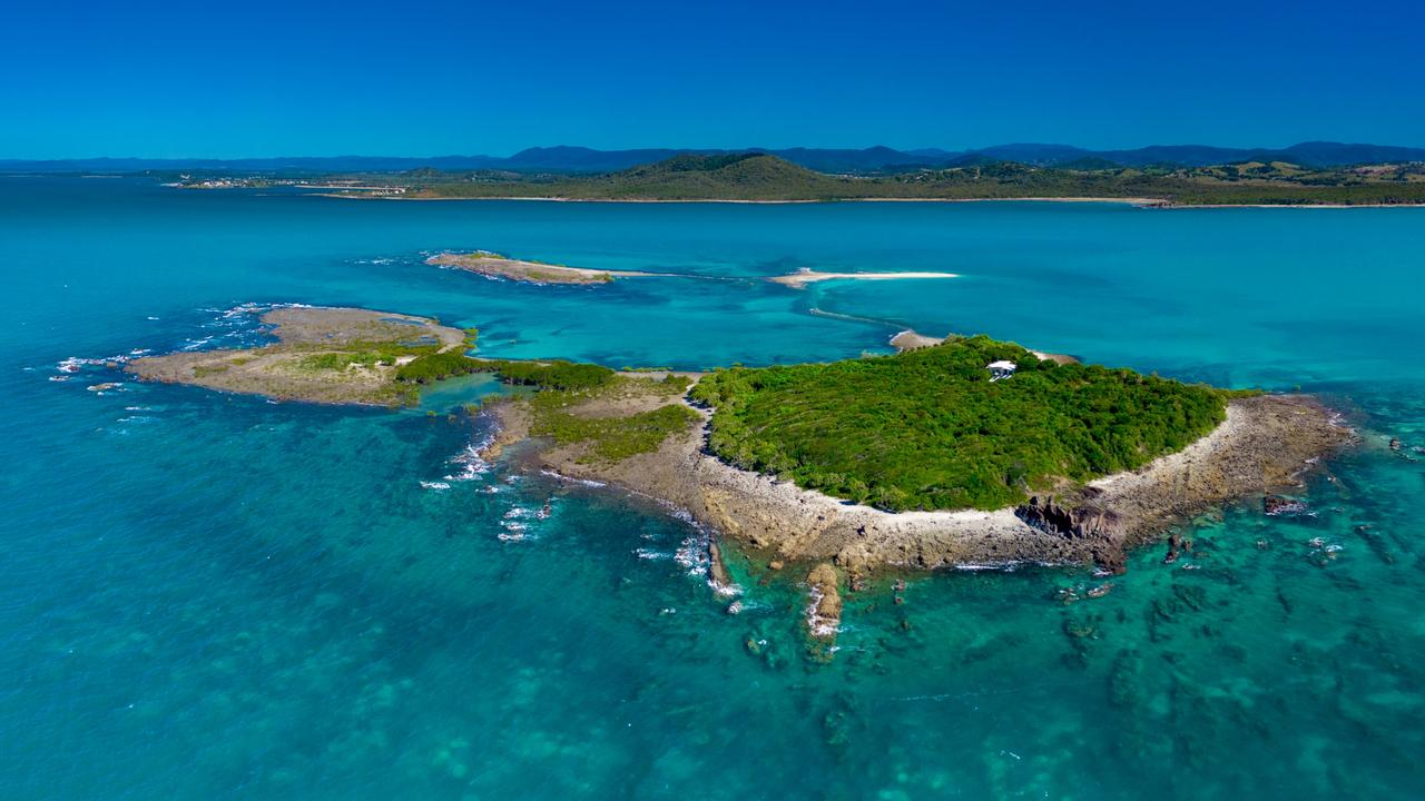 Victor Island is only 2km off Mackay. Image supplied.