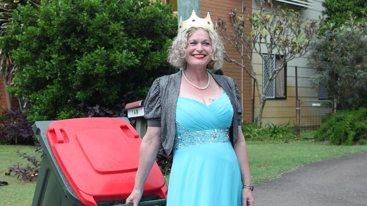 PRINCESS OF SMILES: Urangan resident Danielle Askew was ruling social media with her viral rubbish bin challenge. PHOTO: Shaun Ryan